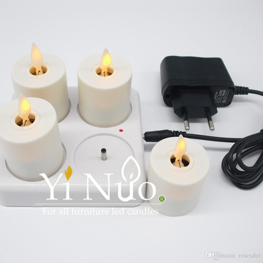 Remote Control Luminara Moving Wick Led Flameless Mini