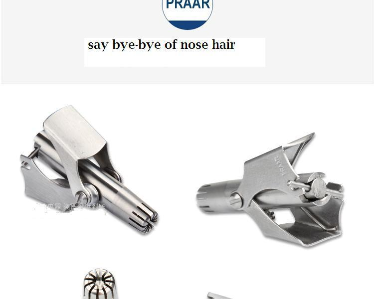 stainless steel manual operation safely nose ear trimmer shaver razor clipper washable portable nose ear clipper not pulled out haircut