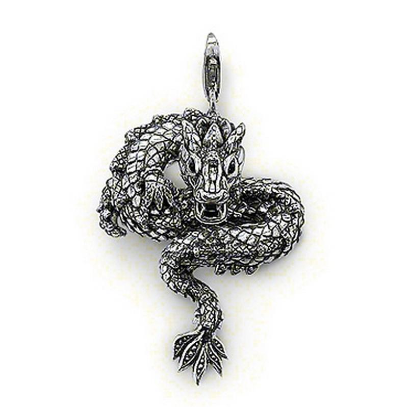 Wholesale chinese dragon pendant charm old times blacken silver see larger image mozeypictures Gallery