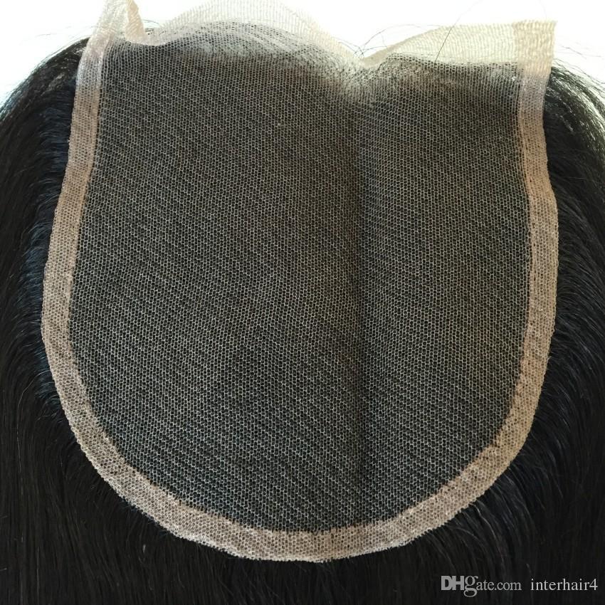 100% Brazilian Virgin Hair 3 Way Parting 5x5 Lace Closure Top Closure Straight Natural Color Human Hair Closure