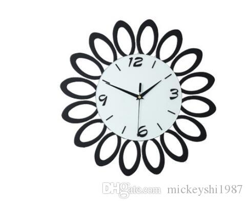 Modern Wall Clocks Minimalist Style Wooden Creative Wall Clock