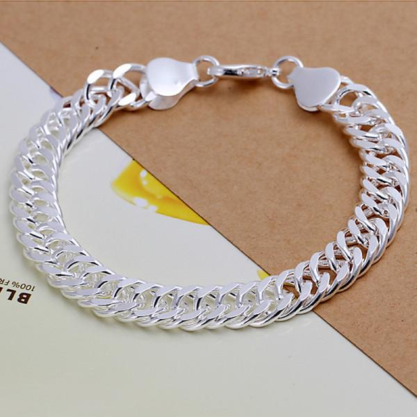 Hot sale best gift 925 silver B10M whole side bracelet - Men DFMCH102, brand new fashion 925 sterling silver plated Chain link bracelets