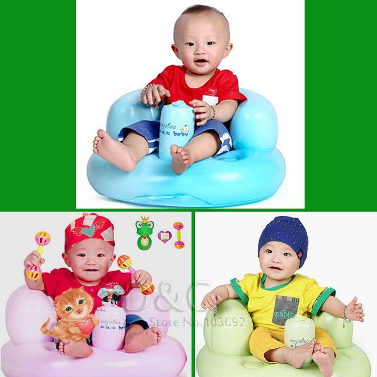 2018 Bath Seat Dining Chair Baby Inflatable Sofa Pushchair Baby ...