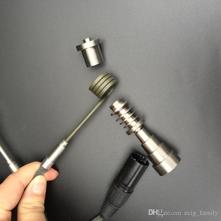 2016 Hottest Enail Coil Heater XLR Air Plug Barrel Flat 110V 220V 16mm 20mm Coil Heater For Enail DIY