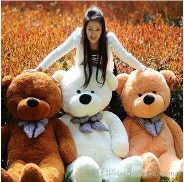 "2015 new arrival giants ""right Angle size 200 cm / 78 inches teddy bear plush huge plush toys plush toys brown valentine's day gift"