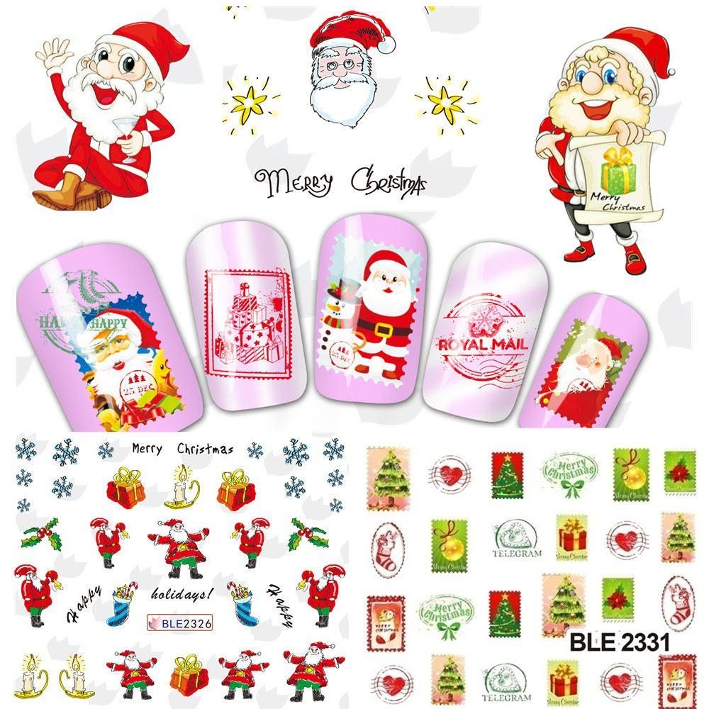 Nail Sticker NEW 2015 Merry Christmas Xmas Water Transfer Decals ...