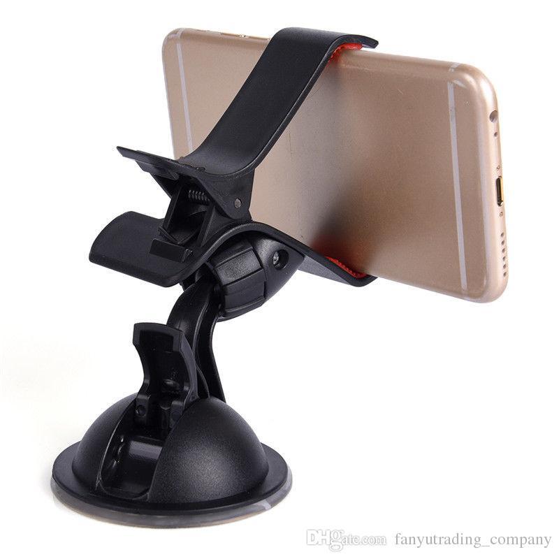 Oi-Qualidade Universal 360 ° Carro ACESSÓRIOS AUTOMÁTICOS Ângulo Ajustável de Rotação Do Telefone Windshield Mount GPS Titular Frete Grátis