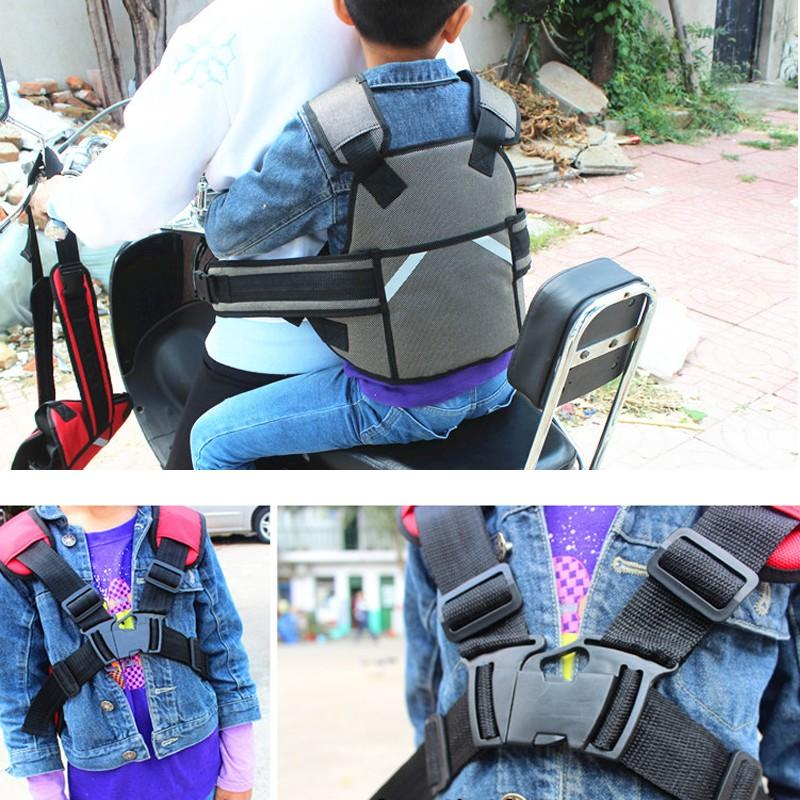 Ceinture de sécurité pour moto Sangle de sécurité pour moto Sièges Ceinture Ceinture de sécurité pour véhicule électrique Plus sécurisée