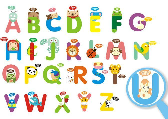 English Alphabet Wall Stickers For Kids Rooms Cartoon Wall Stickers Baby  Bedroom/Kindergarten Sticker Wall Decoration Sticker Wall Decoration  Stickers From ... Part 44