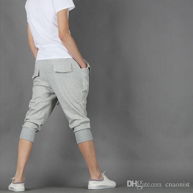 2015 New Men Harem Pants Plus Size XXL Size 28-35 Cotton Blend Loose Casual Fashion Men's Jogging pants Spring&Summer Pant men's Clothing