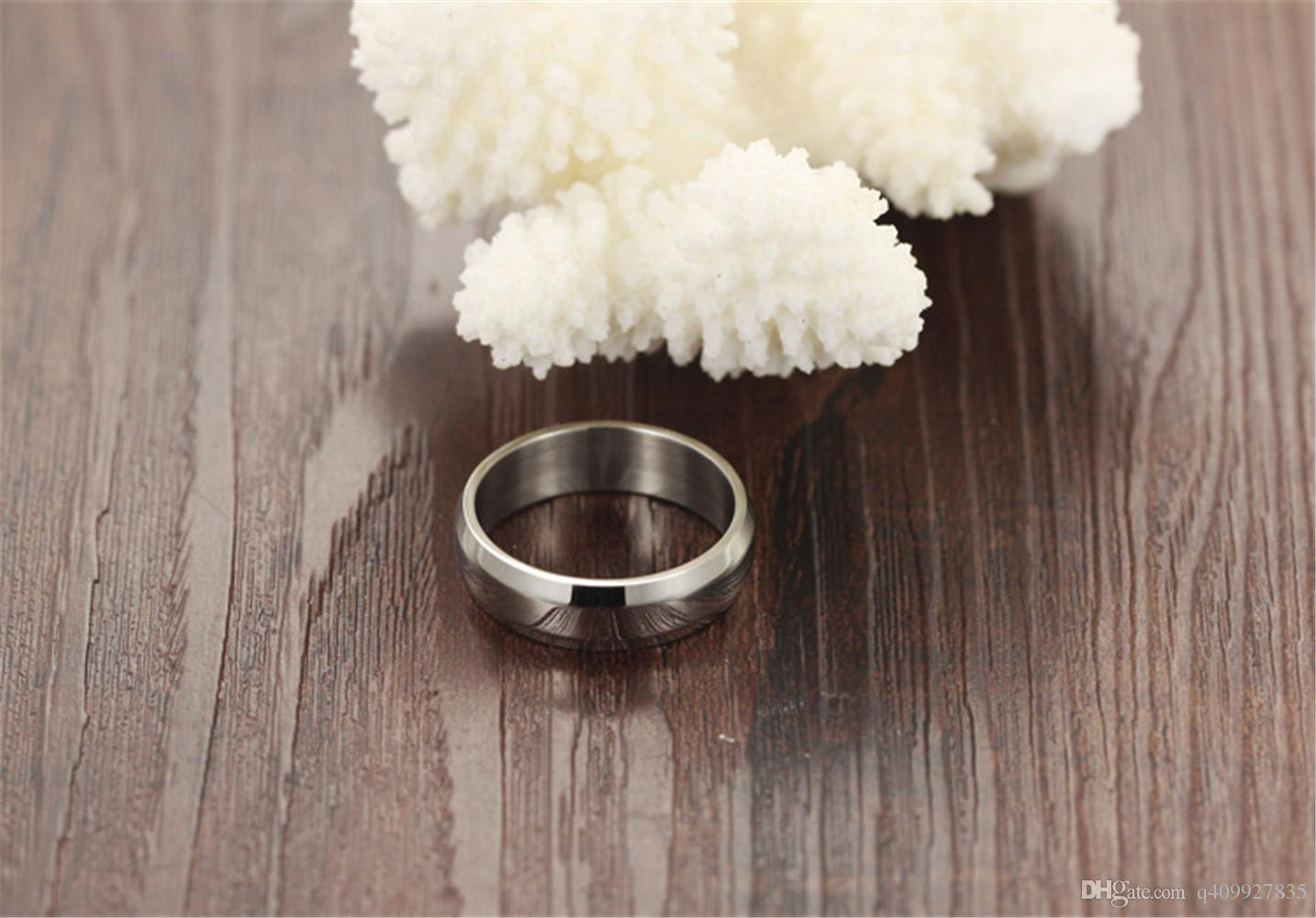 Fashion Day Jewelry Hotest design wedding ring stainless steel ladies rings High Polished Beveled Edges Band