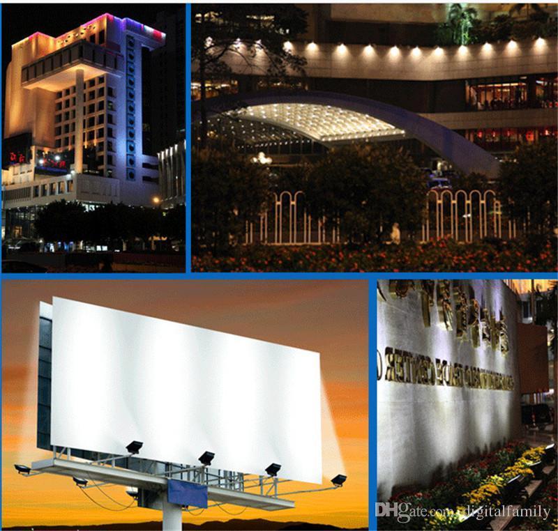 Detaljhandel utomhus LED Floodlight 10W 20W 30W 50W 70W 100W 150W 200W Vattentät Varm Vit Kall Vit COB Landskap Översvämningslampor Väggtvätt Ljus