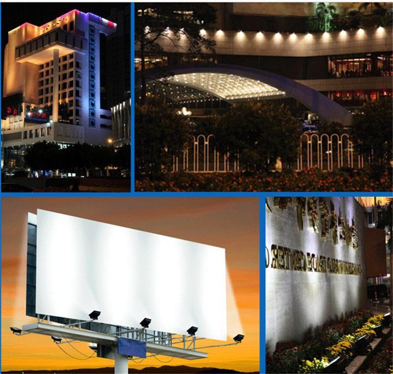 Perakende Açık LED Işıklandırmalı 10 W 20 W 30 W 50 W 70 W 100 W 150 W 200 W Su Geçirmez Sıcak beyaz Soğuk beyaz COB Peyzaj Taşkın Işıkları Duvar Yıkama Işık