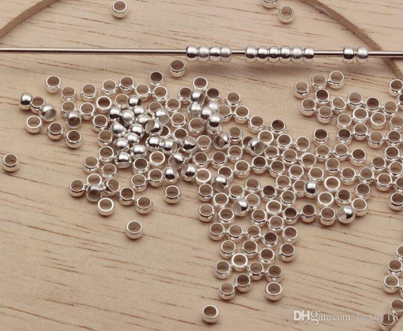 Горячо ! Посеребренная латунь круглый 2.5 мм / 3.0 мм / 3.5 мм / 4.0 мм обжимной конец бусиныb174