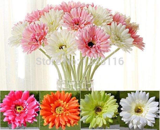 Grosshandel 10 Teile Los Kunstliche Blumen Seidenblumen Kunstliche