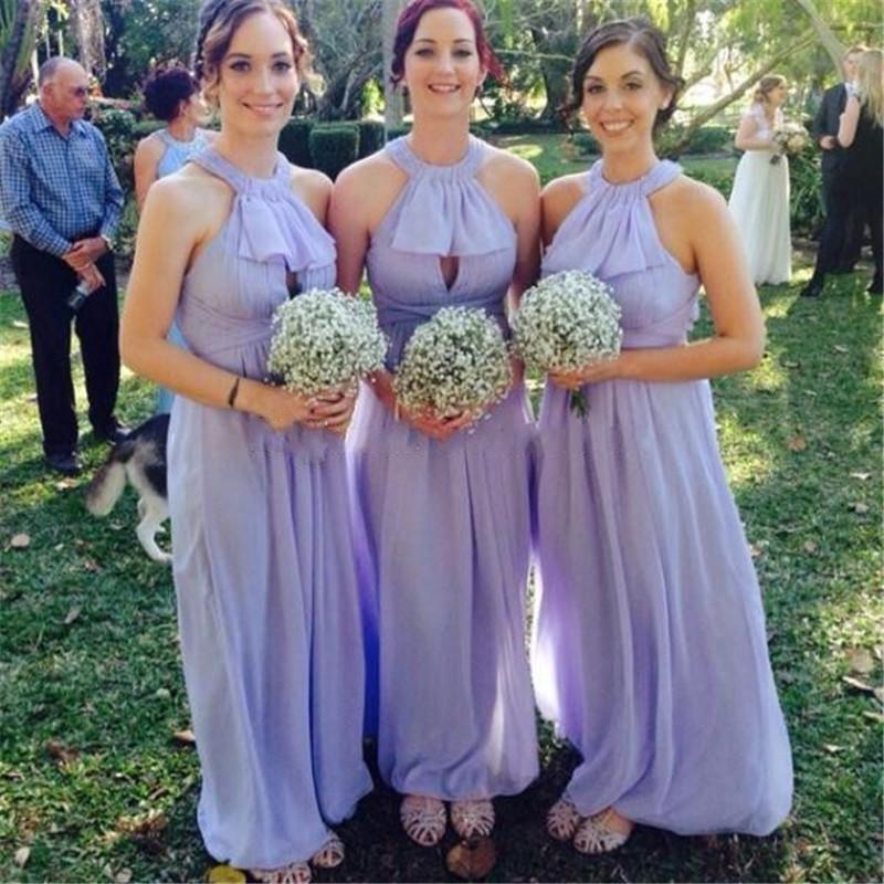 Dorable Lavanda Vestidos De Damas De Honor Ornamento - Ideas de ...