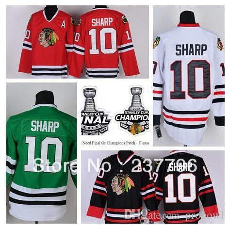2018 New Patrick Sharp Jersey #10 Chicago Blackhawks Ice Hockey Jerseys  Finals Champions Red Black White Green Stitched Best Quality From Probowl,  ...