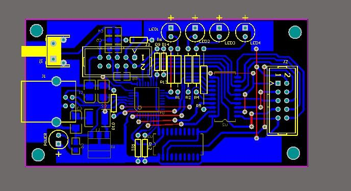 CC2430 Emulator Schematic And Pcb File Cc2430 Simulator Pcb ...