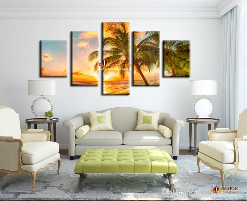 Delicieux Modern Paintings On Canvas Sunset Seascape Inclued Coco Beach HD Picture  Cheap Modern Canvas Art For Living Room Decorative Pieces Modern Paintings  On ...