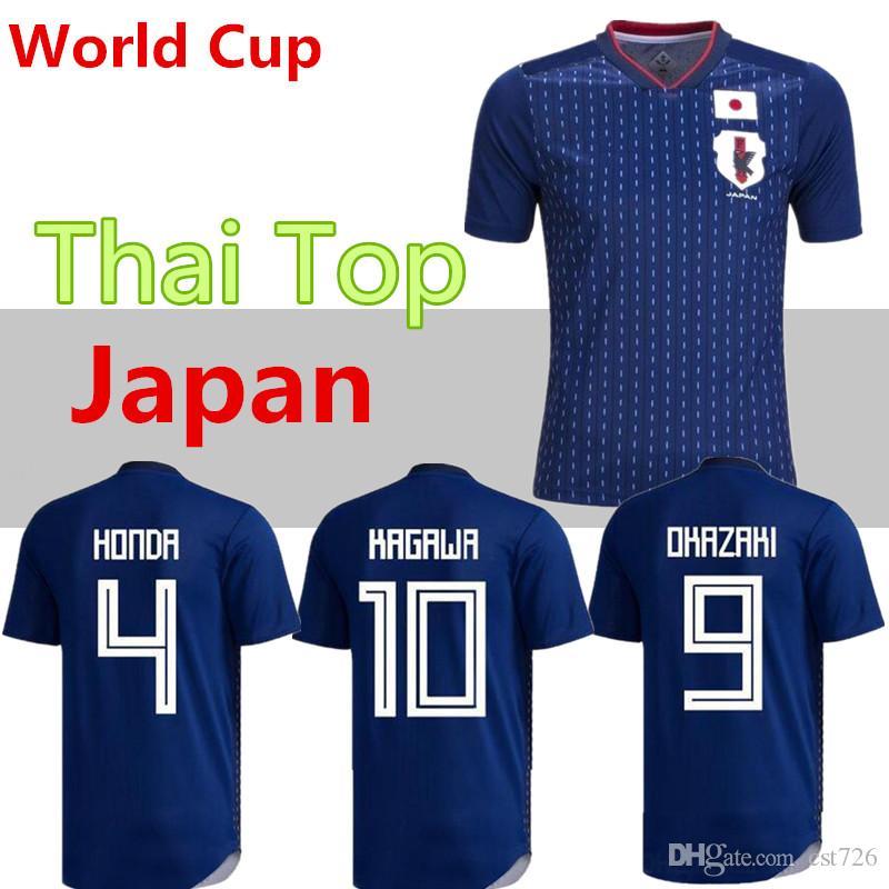 83115ae51c9 2019 2018 World Cup Japan Soccer Jersey 2018 Japan Home Blue Soccer Shirt   10 KAGAWA  9 OKAZAKI  4 HONDA Football Uniform 2018 World Cup From Cst726