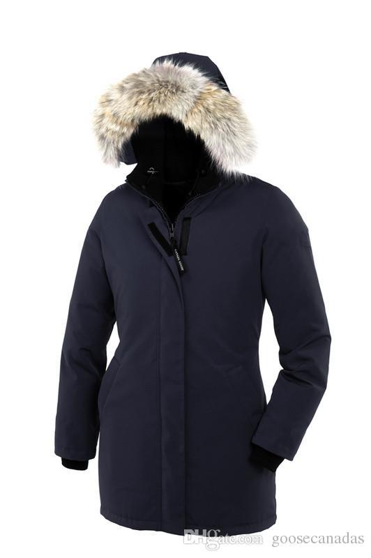 Kadınlar Victoria Femme Açık Havada Kürk Aşağı Ceket Hiver Kalın Sıcak Rüzgar Geçirmez Kaz Tüyü Ceket Kalınlaşmak Fourrure Kapşonlu Ceket Manteaus Doudo ...