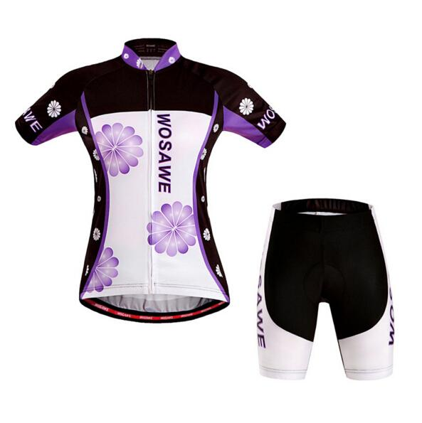 Summer Women Cycling Short Sleeves Jersey quick dry Bicycle cycling jerseys Sets Padded breathable Cycling Short