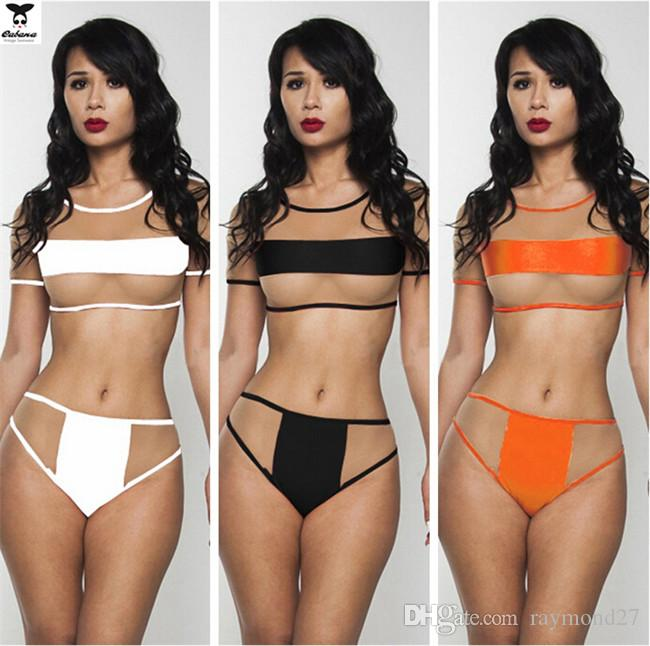 59689d086f73a 2019 2015 New Summer Mesh Crop Top Micro Coverage Sexy Lingerie Women See  Through Swimwear For Women Nude Transparent Bikini Monokini Swimsuit From  ...