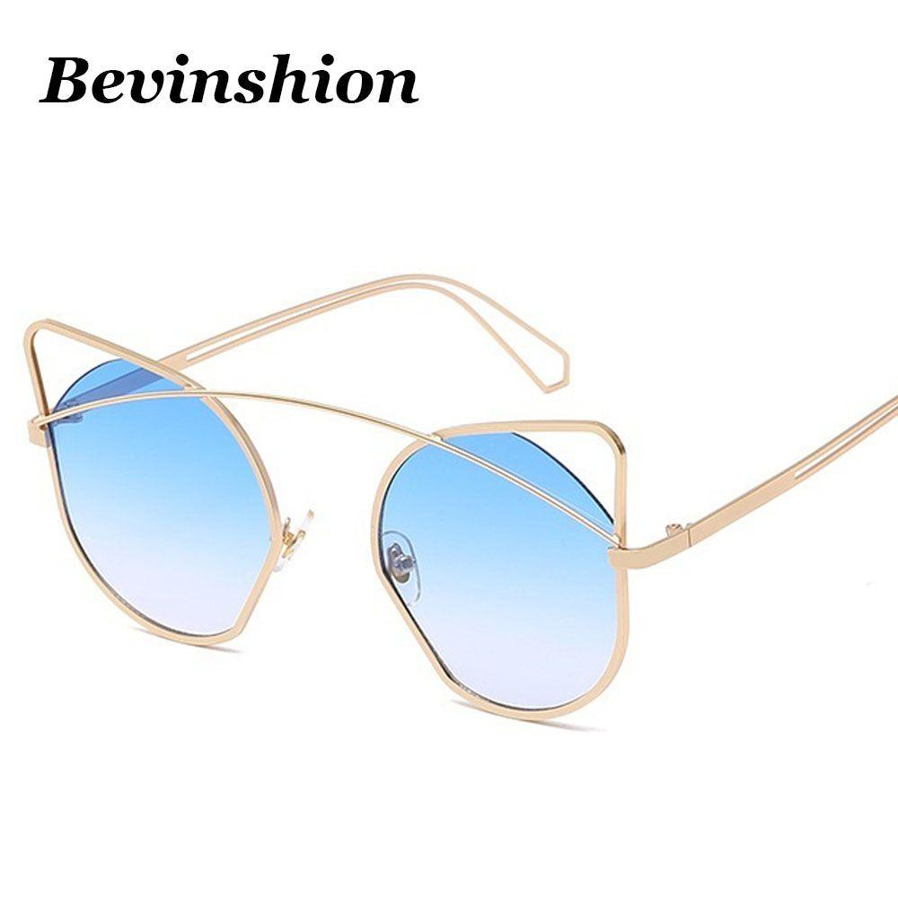 4e3368a5ec Luxury Brand Logo Heart Sun Glasses Cateye Pink Mirror Sunglasses ...