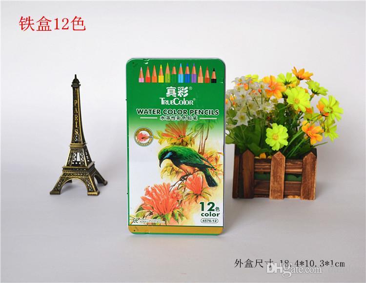 / scatola di ferro i scatola matita con temperamatite set di cancelleria / regalo del capretto set / matita bambini colorati