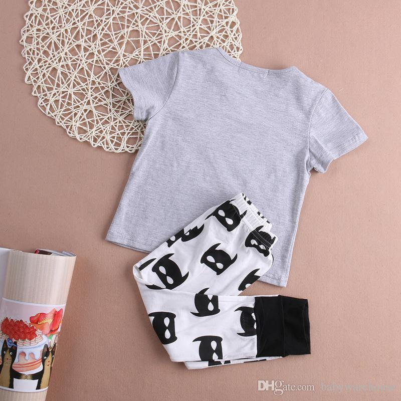 Baby Boy Clothes Cartoon Batman Boys Set Kids Boy Christmas Outfits Tops T shirt + Batman Pants Boys Clothes Set Children Clothing