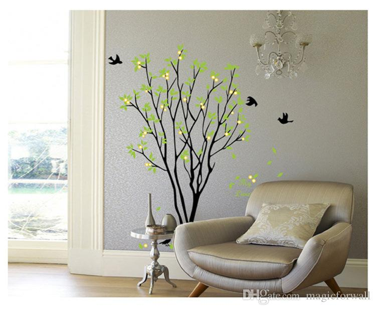 My Lime Orange Tree Wall Art Mural Wall Decal Sticker Green Tree with Fruits Wallpaper Decal Sticker Living Room Bedroom Art Decor Poster