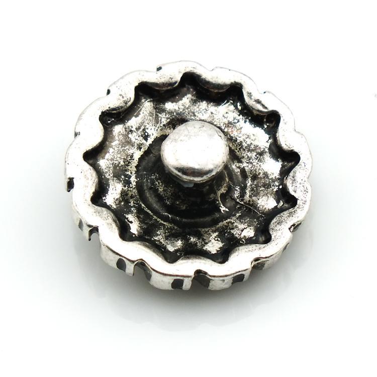 جديد 18 ملليمتر المفاجئة أزرار ريترو براون حجر الراين زهرة المشابك المعدنية صالح diy النتائج مجوهرات سوار noosa