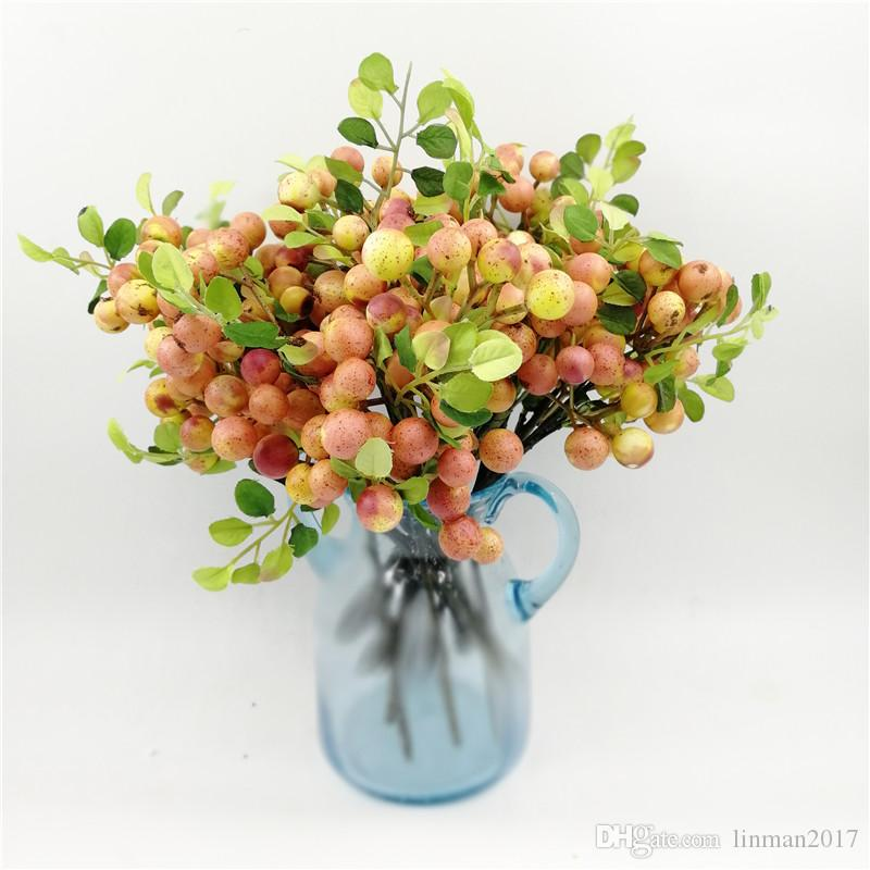 Decorative Redberry Fruit Berry Artificial Flower PE Foam Flowers Fruits For Wedding Home Decoration Artificial Plantsred