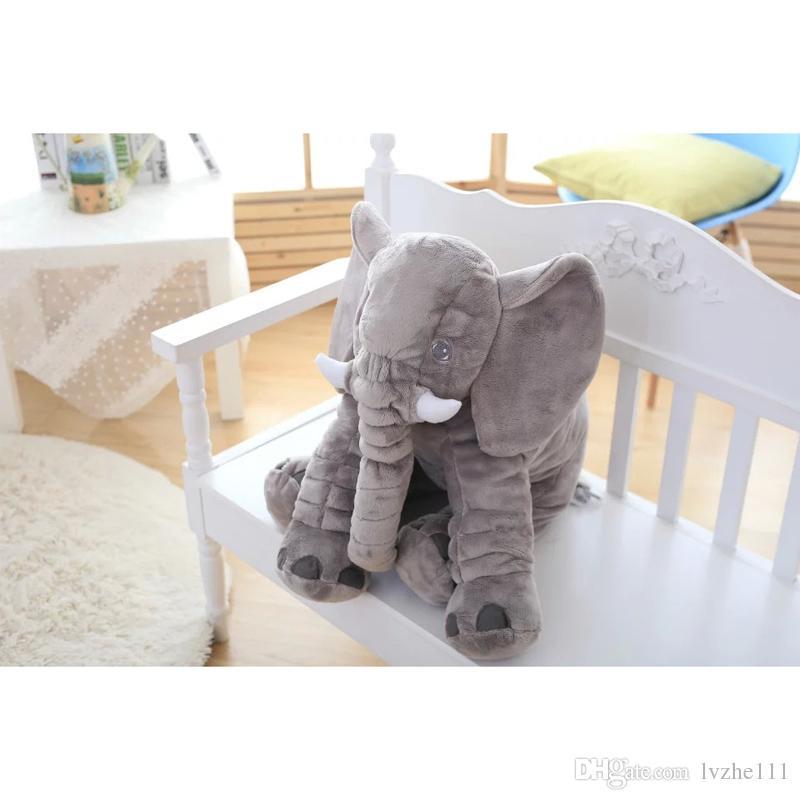 New Baby Kids Stuff Long Nose Elephant Soft Doll Toys Lumbar Pillow Plush Gift 5 Colour 2 Size