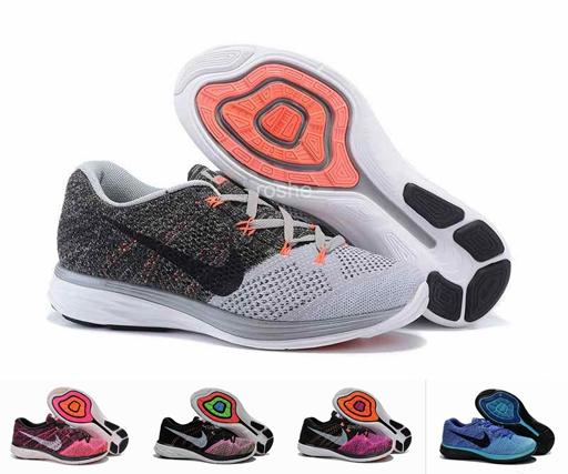 2015 New Style Nike Flyknit Lunar 3 Running Shoes For Women & Men,  Lightweight Breathable Athletic Sport Sneakers Eur 36 45 White Running  Shoes Womans ...