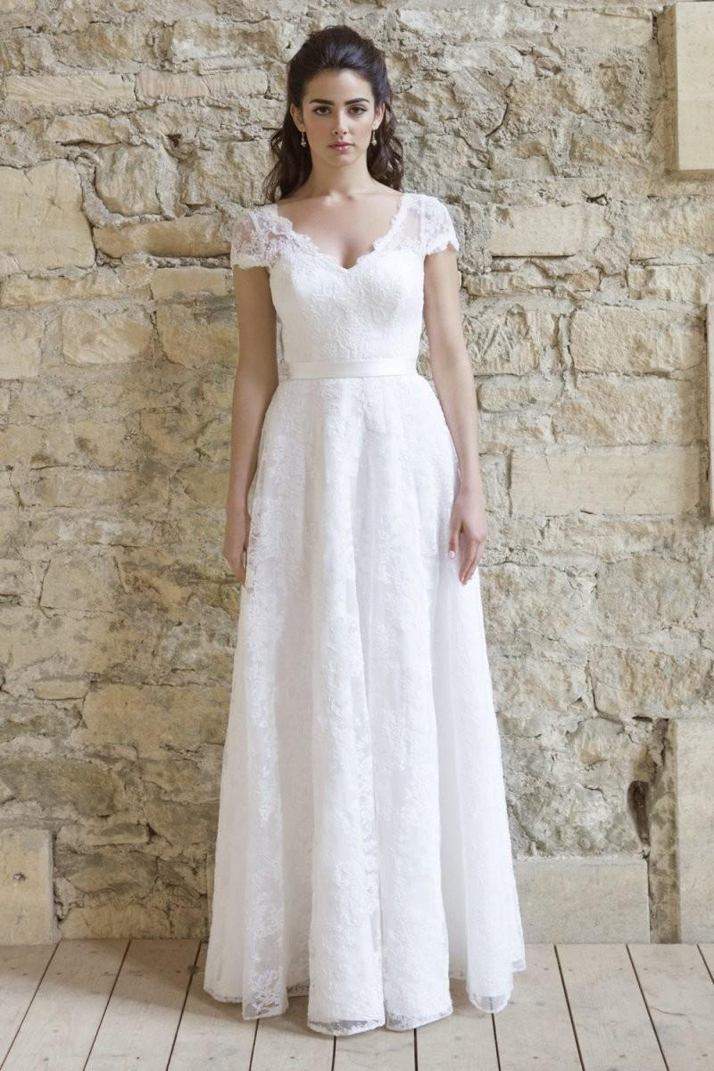 Discount 2016 Wedding Dress New Arrival Elegant Simple Floor Length ...