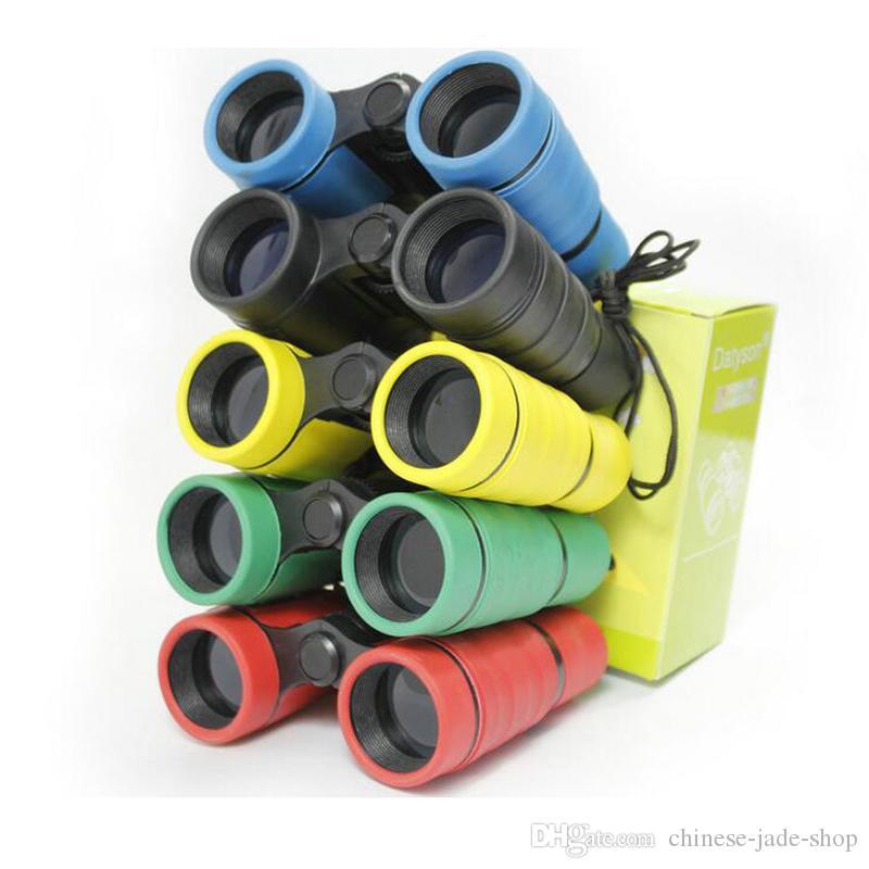 Télescope de poche jumelles en plastique des enfants 4x30 maginification pour enfants jouets en plein air garçons jouets cadeau /