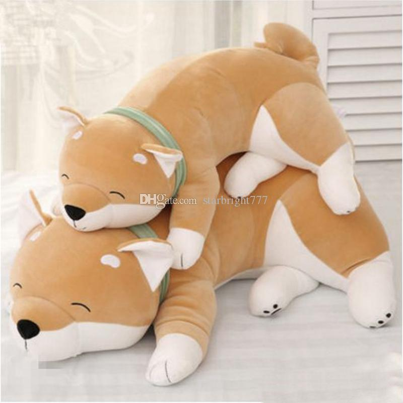 2019 Pop Realistic Animal Akita Plush Toy Pillow Stuffed Big Cartoon