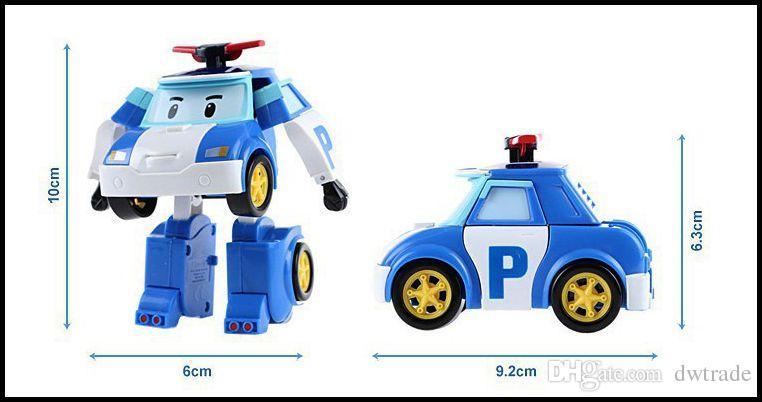 2015 niños ROBOCAR POLI burbuja figura de acción juguetes 4 unids / lote coreano Anime transformar robert muñecas J061801 # DHL