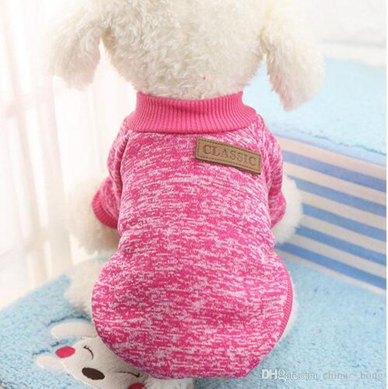 Clásico Cálido Pet Dog Ropa de perro Puppy Traje Pet Chaqueta Abrigo Coat Ropa de invierno Suéter suave Ropa para perros pequeños Chihuahua XS-2XL