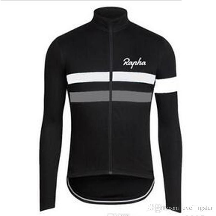 Hot New autumn cycling clothing Long Sleeves Rapha Cycling Jerseys racing bicycle Shirt Comfortable Breathable Bike Wear L0701