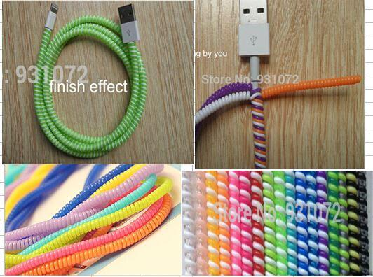 Plastic Spiral Cord Protector Wrap About 50cm Cable Winder Holder ...