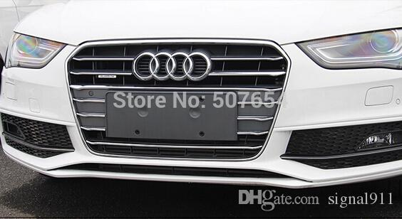 !High quality ABS with Chrome Front grill decoration bright trim for Audi A4L 2013-2015
