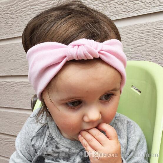 Crianças Meninas Weave force Headwrap Algodão Headbrap 10 cores Nó Cinto infantis bebês moda hairbands encantadores acessórios para o cabelo