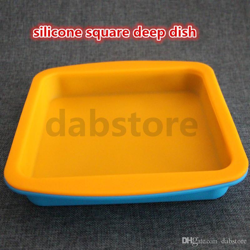 горячая DHL силиконовый воск блюдо глубокий Пан квадратная форма 8