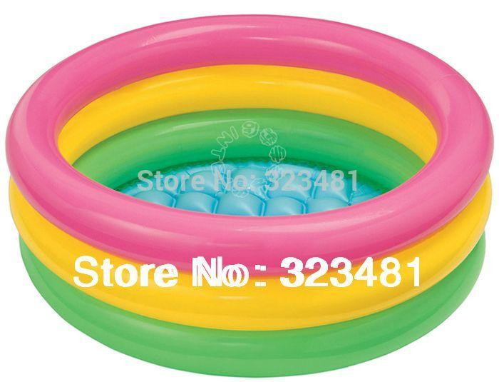 2018 Intex 57402 Small Three Rings Inflatable Pool Kids Baby Air Swimming From Taigu502 1737