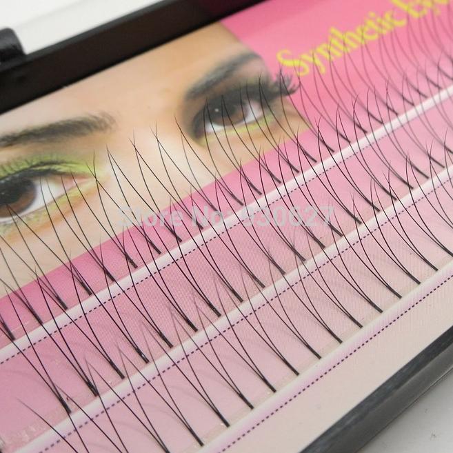 Flare Knot Free Natural Long Black Individual Eyelash Extension Synthetic Eye Lash Extension Kit 12mm 10mm 8mm