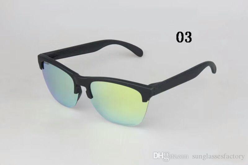 Nouvelle arrivée classique Frogskin demi-cadre lunettes de soleil mode lentille polarisée lunettes pour l'été en plein air lunettes