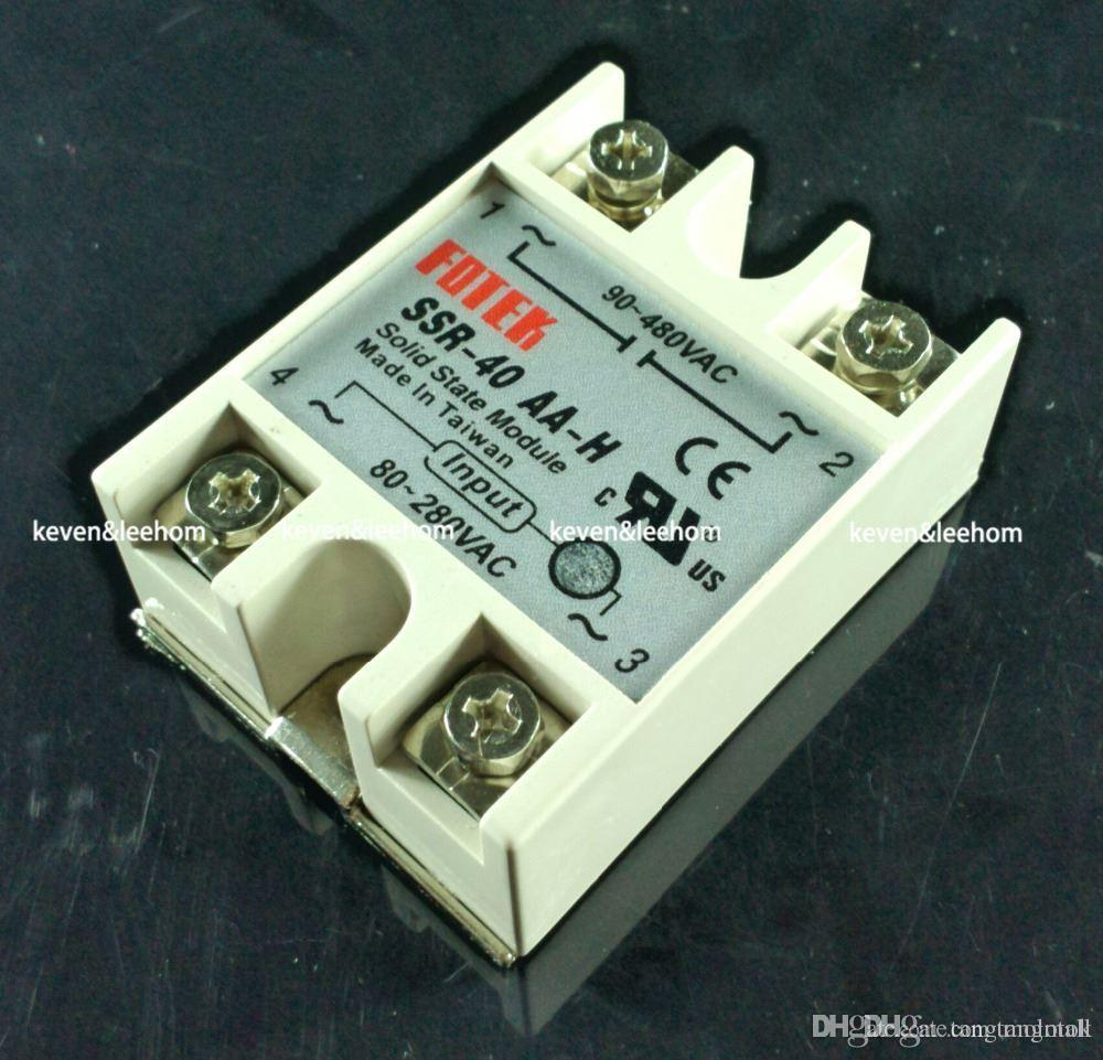 Solid State Relay Ssr 40aa H 40a Actually 80 250v Ac To 90 480v Switch Resistance Regulator A5 Led