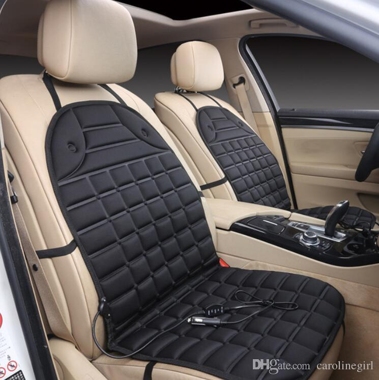 Electric Heating Car Cushion Warm Mat Pad 12V Single Seat Autumn Winter Auto Temperature Control Heated Leather Cover Seats For Cars